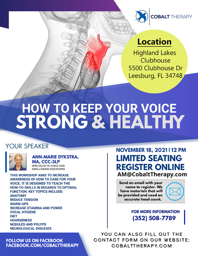 How to keep your voice strong and healthy